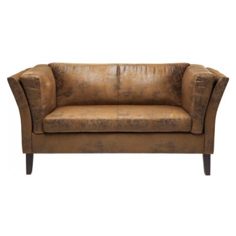 Dvojsedačka Canapee Vintage Eco - hnědá, kožená Kare Design