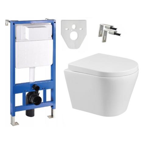 Sada podomítkový modul MEXEN FENIX SLIM + závěsná WC mísa RICO + prkénko