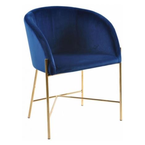Hector Čalouněná židle Nella modrá