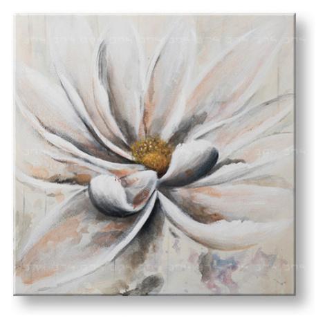 Malovaný obraz na stěnu KVĚT 1 dílný CWFFL036 - 100x100 cm
