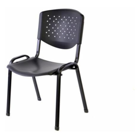 Garthen 38259 Stohovatelná plastová kancelářská židle - černá