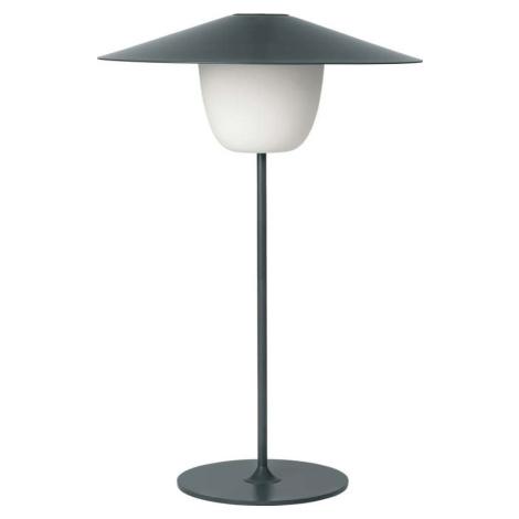 Tmavě šedá střední led lampa Blomus Ani Lamp