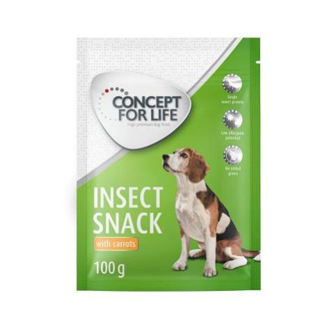 2 x 100 g Concept for Life Insect Snack ve zkušebním balení! - s batátami a mrkví