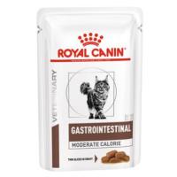 Royal Canin VD Feline Gastro Intestinal Moderate Calorie - výhodné balení 24 x 85 g