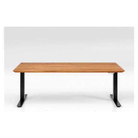 Dubový výškově nastavitelný stůl Symphony - černá, 200x100cm Kare Design