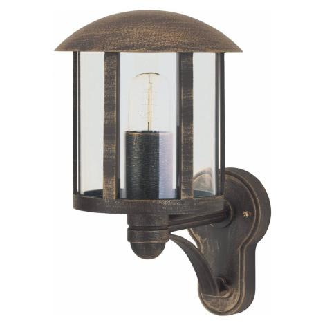 Albert Leuchten Venkovní nástěnné světlo Genefe, bez senzoru hnědá