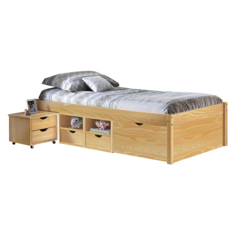 Multifunkční postel CLAAS 90x200 cm vč.roštu, masiv borovice Smarshop