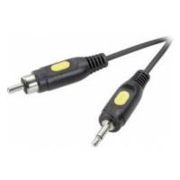 Cinch / jack video kabel [1x cinch zástrčka - 1x jack zástrčka 3,5 mm] 1.50 m černá SpeaKa Profe