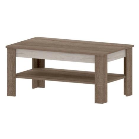 Sconto Konferenční stolek VALENCIA dub truffel/dub craft bílý