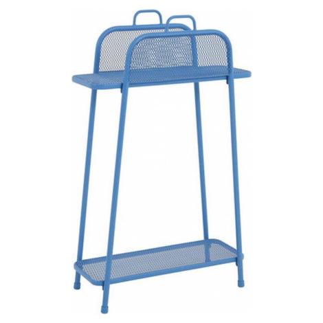 Modrá kovová police na balkon ADDU MWH, výška 105,5 cm