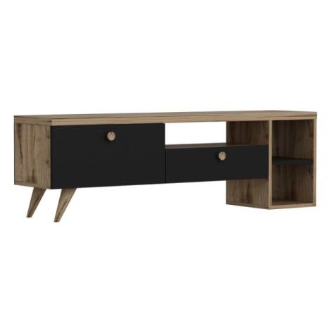 Sconto TV stolek PARION černá/dub