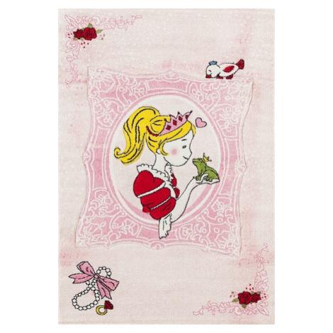 Dětský kusový koberec Momo K11567-09 | růžový Typ: kulatý 133 cm