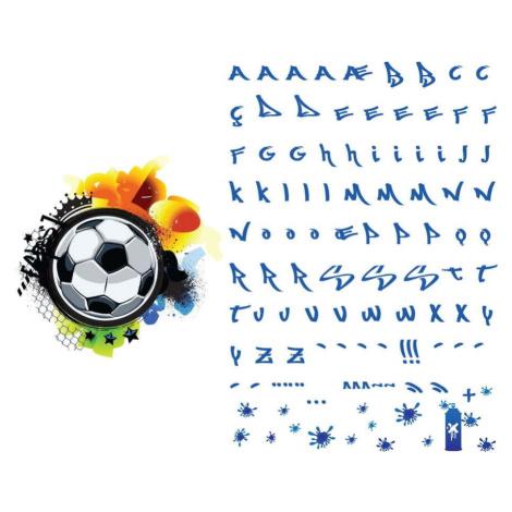 Nástěnná samolepka se jménem Ambiance Football Graffitti