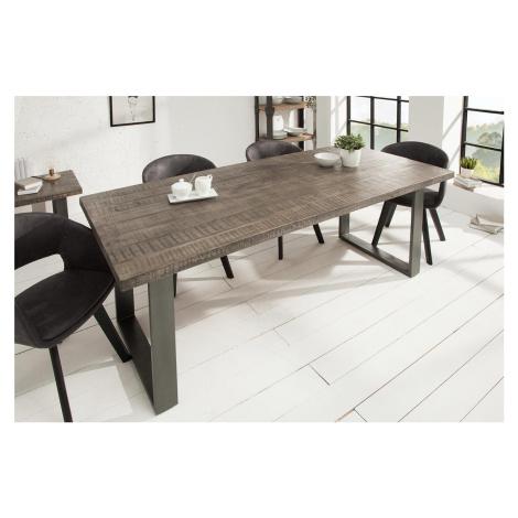 LuxD Jídelní stůl Thunder 200 cm šedé mango