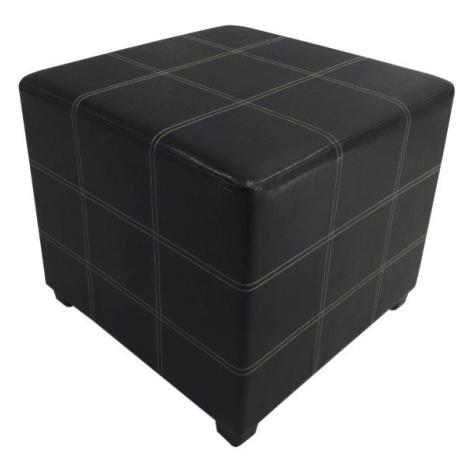 Taburet, černá textilní kůže, NELA NEW Tempo Kondela