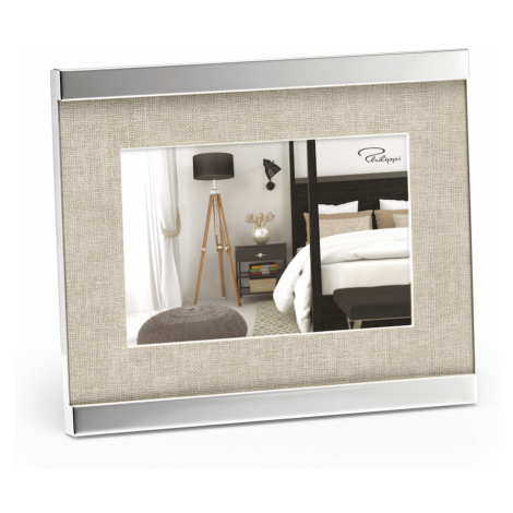 Fotorámeček Home, 10 x 15 cm, nikl, látka - Philippi