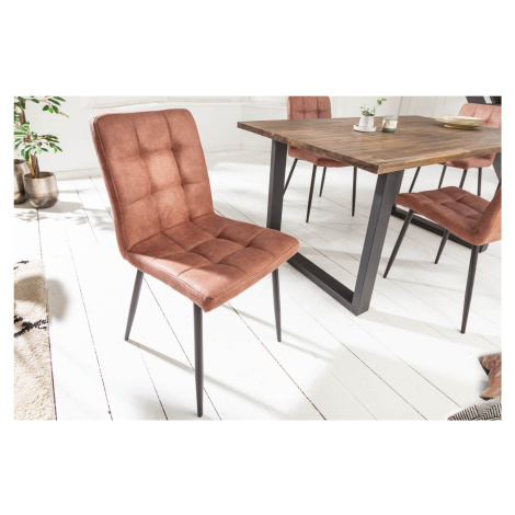 LuxD Designová židle Modern vintage hnědá