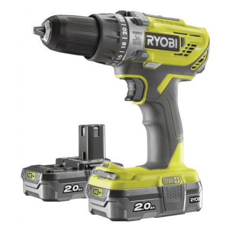 Ryobi R18PD3-220S aku 18 V vrtačka + 2x baterie 2 Ah + nabíječka ONE+