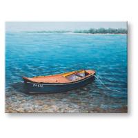Malovaný obraz na stěnu LODIČKY 1 dílný CWFBC032 - 120x90 cm
