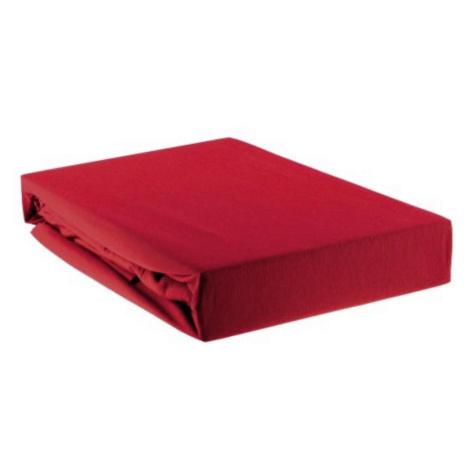 PROSTĚRADLO NAPÍNACÍ, červená, 90/200 cm