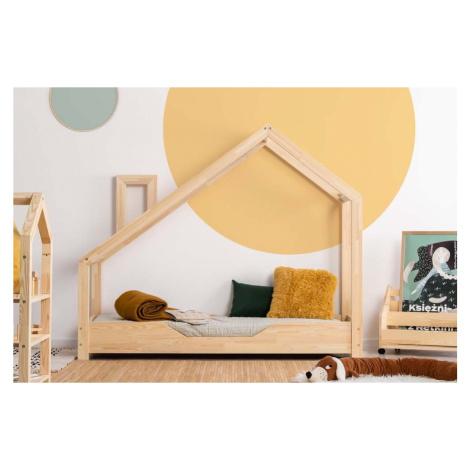 Domečková postel z borovicového dřeva Adeko Luna Bek, 90 x 140 cm
