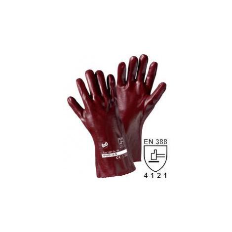 PVC rukavice, velikost 10, červeno-hnědé, délka 270 mm