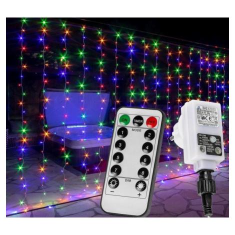 VOLTRONIC 68204 Vánoční světelný závěs - 6 x 3 m, 600 LED, barevný VOLTRONIC®