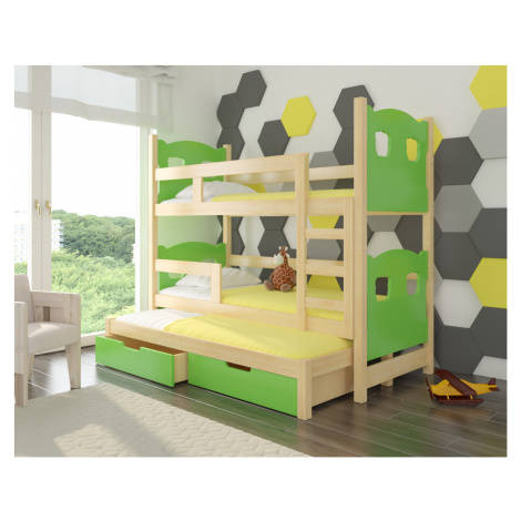 Dětská patrová postel Jade s výsuvným lůžkem