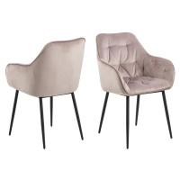 Dkton Designové židle Alarik popelavá růžová