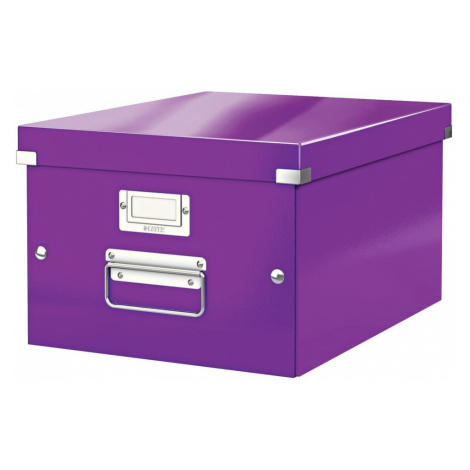 Fialová úložná krabice Leitz Universal, délka 37 cm