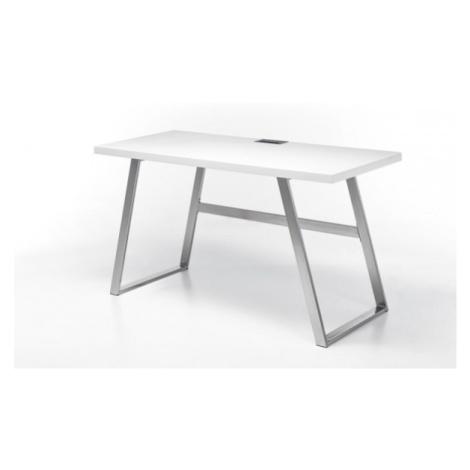 Kancelářský stůl psací stůl salvia (bílá, stříbrná) MC AKCENT