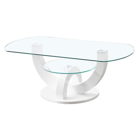 Sconto Konferenční stolek BOSTON bílá, vysoký lesk