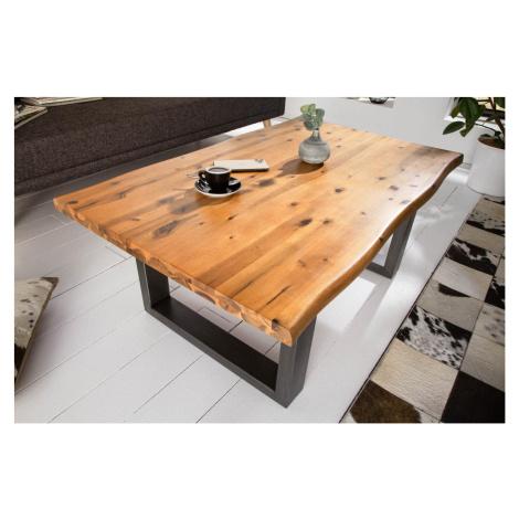 LuxD Designový konferenční stůl Evolution 110 cm akácie