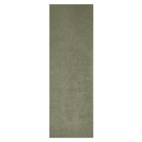 Tmavě zelený běhoun Mint Rugs Supersoft, 80 x 250 cm