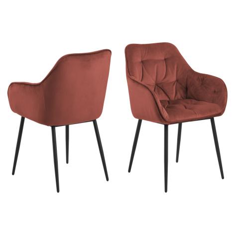 Dkton Designové židle Alarik korálová