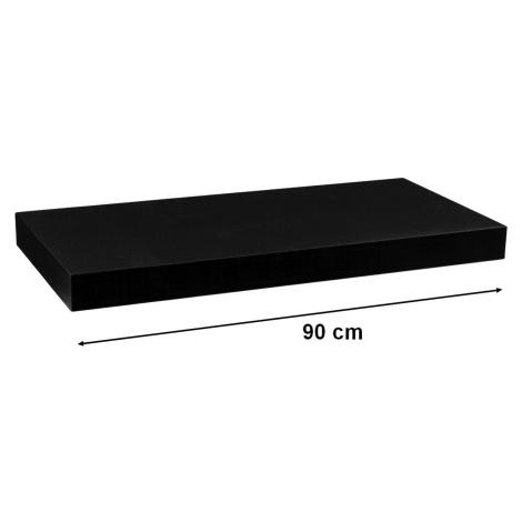 STILISTA VOLATO 31062 Nástěnná police - matná černá 90 cm