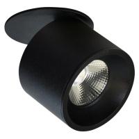 Polux LED Bodové zápustné svítidlo HARON 1xLED/15W/230V černá