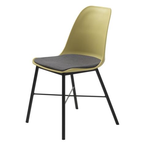 Furniria Designová židle Jeffery matná žlutá