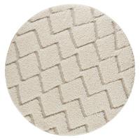 Krémový koberec Mint Rugs Handira, ⌀ 160 cm