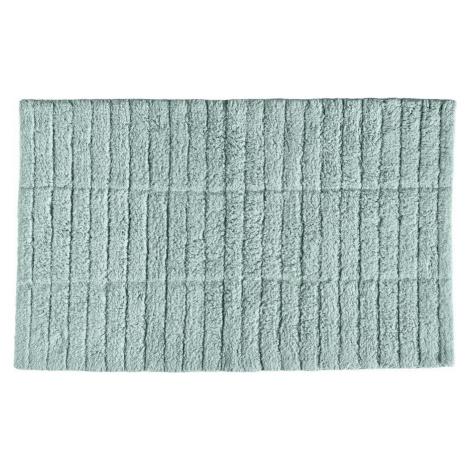 Světle zelená bavlněná koupelnová předložka Zone Tiles, 80 x 50 cm