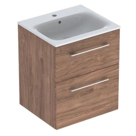 Koupelnová skříňka s umyvadlem Geberit Selnova 55x50,2x65,2 cm ořech hickory 501.234.00.1