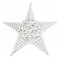 Dekorace Hvězda 30x30 cm, bílý ratan
