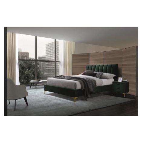 Manželská postel Miriam 160x200, zelená