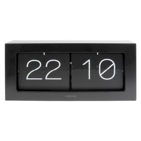 Karlsson 5642BK designové nástěnné/stolní překlápěcí hodiny, 36 x 18 x 9 cm