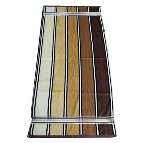 JAHU Ručník Rainbow - 50x100 hnědá JH58961