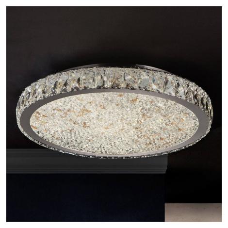 Schuller LED stropní svítidlo Dana s krystaly Ø 49 cm
