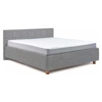 Světle modrá dvoulůžková postel s roštem a úložným prostorem ProSpánek Leda, 160 x 200 cm