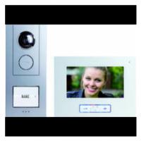 Kabelový domovní video telefon m-e modern-electronics VISTUS VD ALU-6710 S 41174, stříbrná