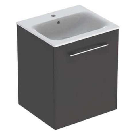 Koupelnová skříňka s umyvadlem Geberit Selnova 55x50,2x65,2 cm láva mat 501.249.00.1