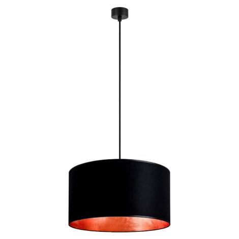 Černé závěsné svítidlo s vnitřkem v měděné barvě Sotto Luce Mika, ⌀ 50 cm